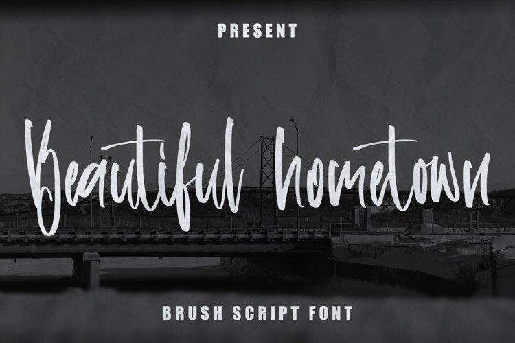 Beautiful Hometown - Brush Script Font example image 1