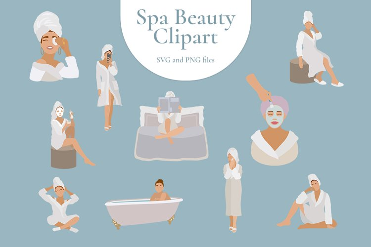 Spa therapy for girls in bathrobe