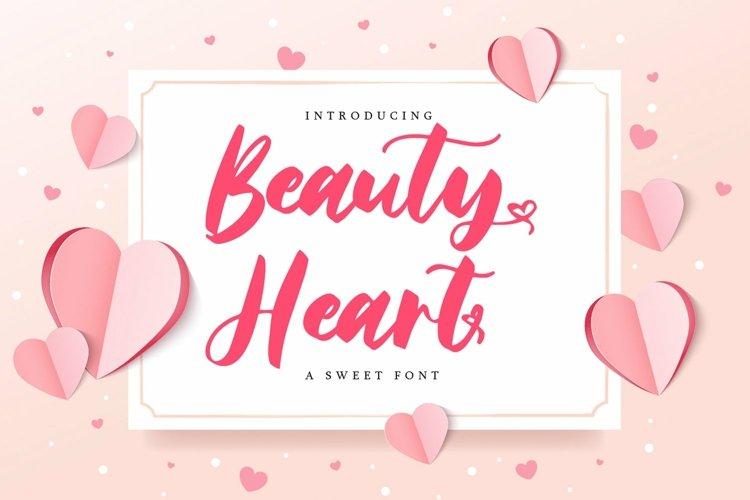 Web Font Beauty Heart - A sweet Font example image 1