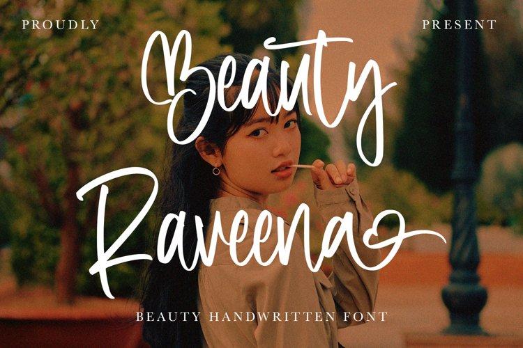 BeautyRaveena - Beauty Handwritten Font example image 1