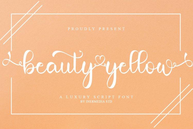 Beauty Yellow - A Luxury Calligraphy Font example image 1