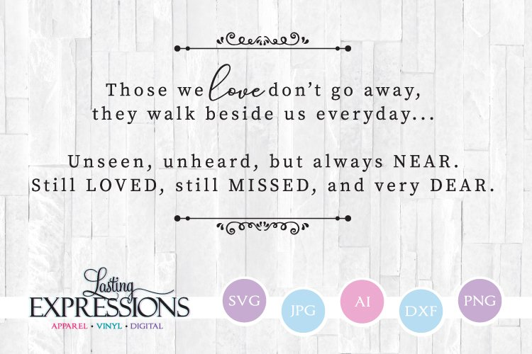 Memorial Quote SVG File // Wood Sign SVG example image 1