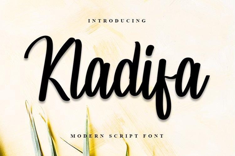 Kladifa - Modern Script Font example image 1