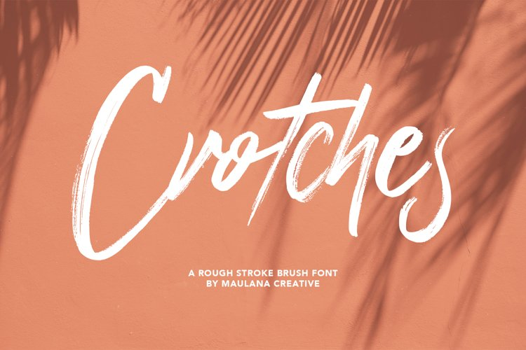 Crotches Rough Stroke Brush Font example image 1