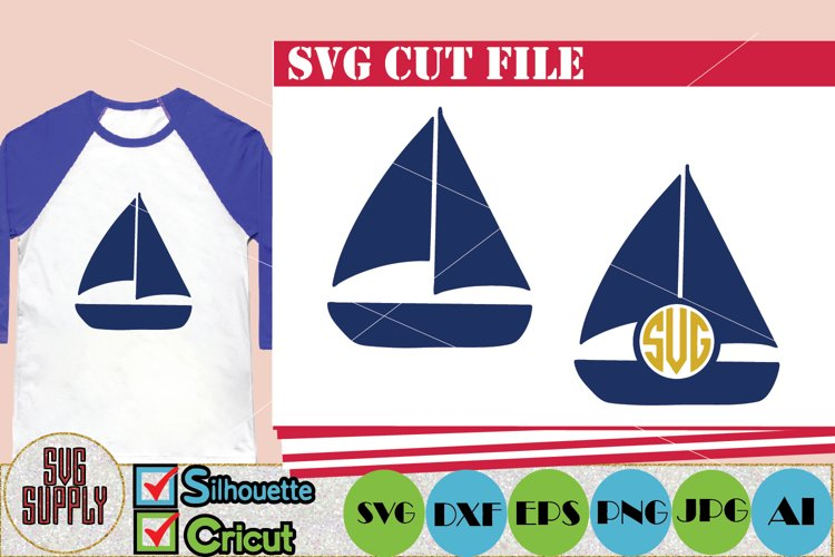 Sailboat SVG Cut File