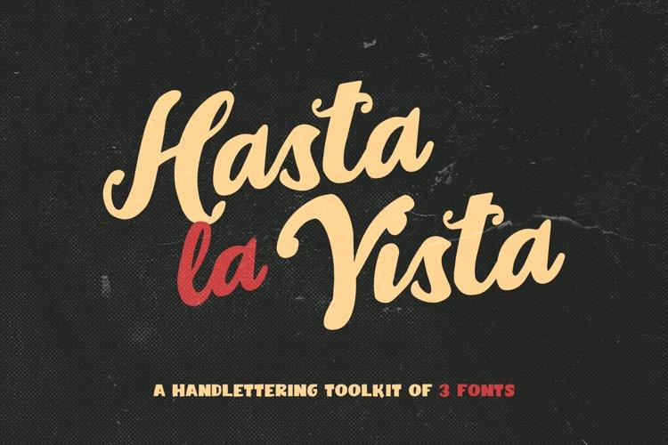 Hasta La Vista - Font Trio example image 1
