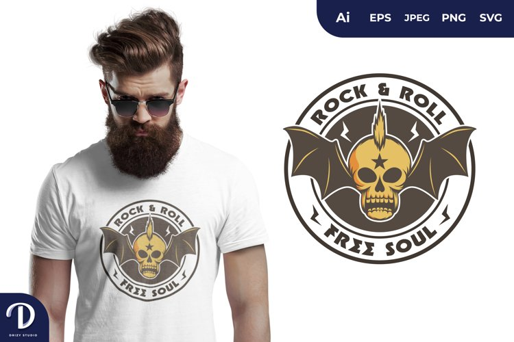 Rock and Roll for T-Shirt Design example image 1