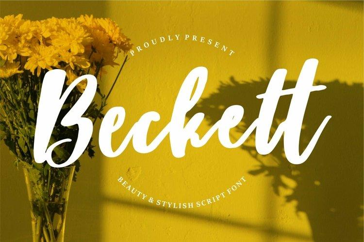 Web Font Beckett - Beauty & Stylish Script Font example image 1
