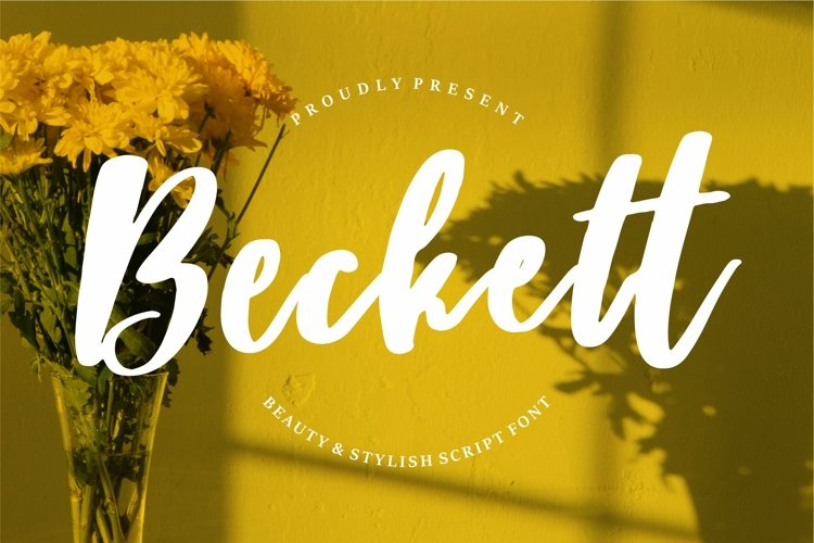 Beckett - Beauty & Stylish Script Font example image 1