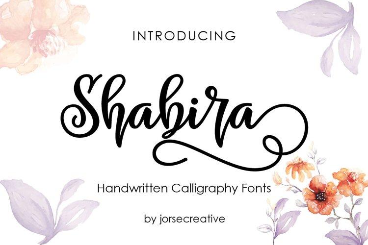 Shabira font example image 1