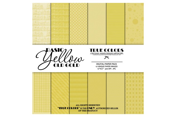 Digital Paper Pack Old Gold Paper Pack Yellow Digital Paper example image 1