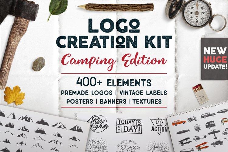 Logo Creation Kit - SVG Camping Bundle Edition. Silhouette