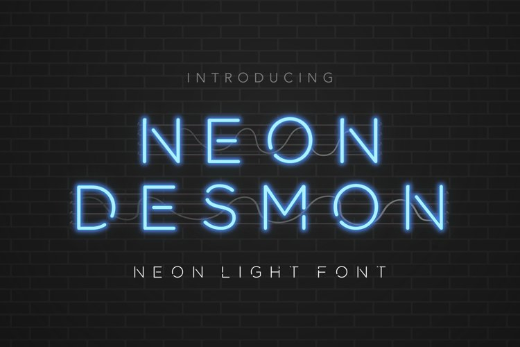Neon Desmon - Neon Light Font example image 1