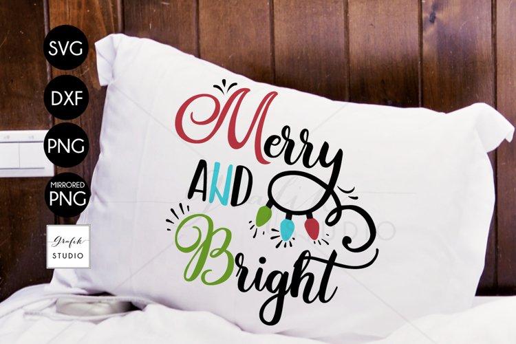 Merry & Bright CHRISTMAS SVG File Bundle