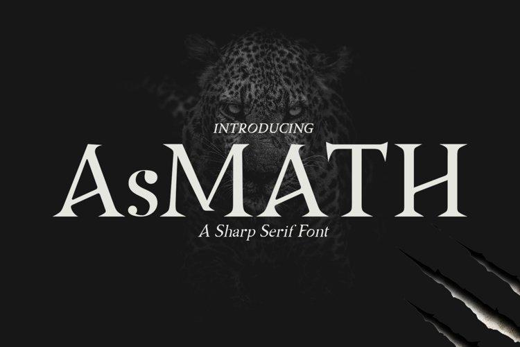AsMATH A Sharp Serif Font example image 1