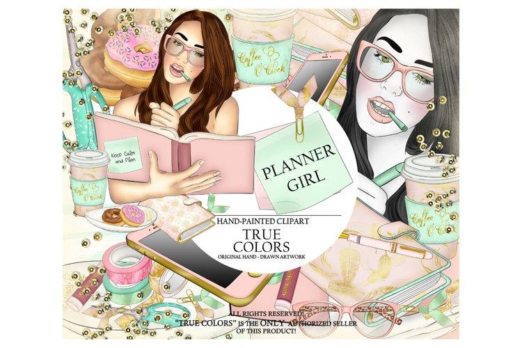 Planner Girl Clip Art/Planner Girl Clipart/planner girl example image 1