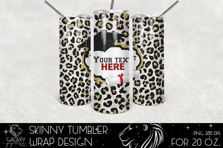 Graduation 20 Oz. Skinny Tumbler Wrap Sublimation Design