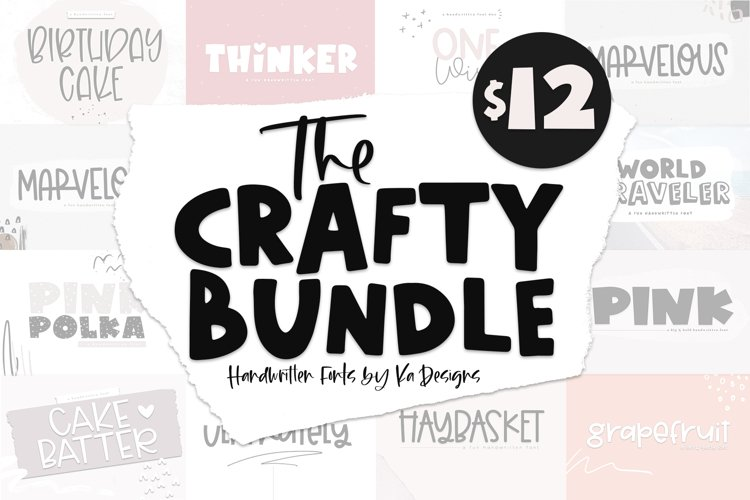 The Crafty Bundle - 14 Fun & Quirky Fonts example image 1