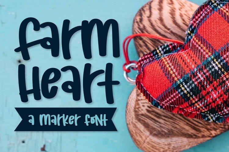 Web Font Farm Heart - A Mixed Caps Marker Font example image 1
