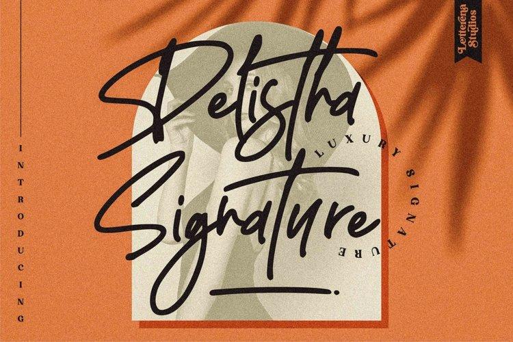 Delistha Signature - Modern Signature Font example image 1