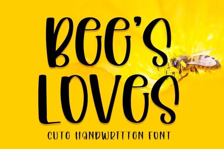 Bees Loves - Cute Handwritten Font example image 1