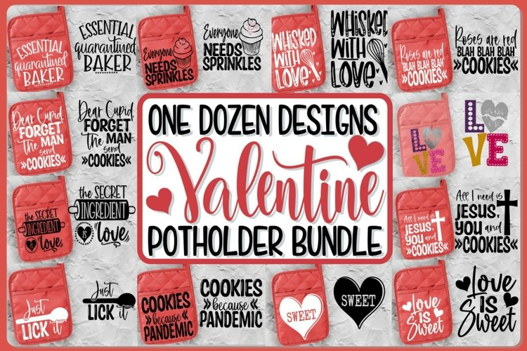 VALENTINE POTHOLDER BUNDLE - SVG - 12 DESIGNS - BAKING