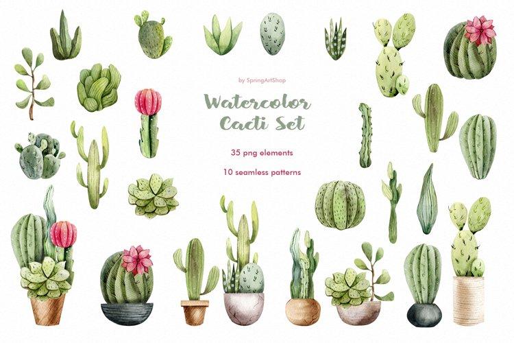 Watercolor Cacti clipart Plants watercolor succulents