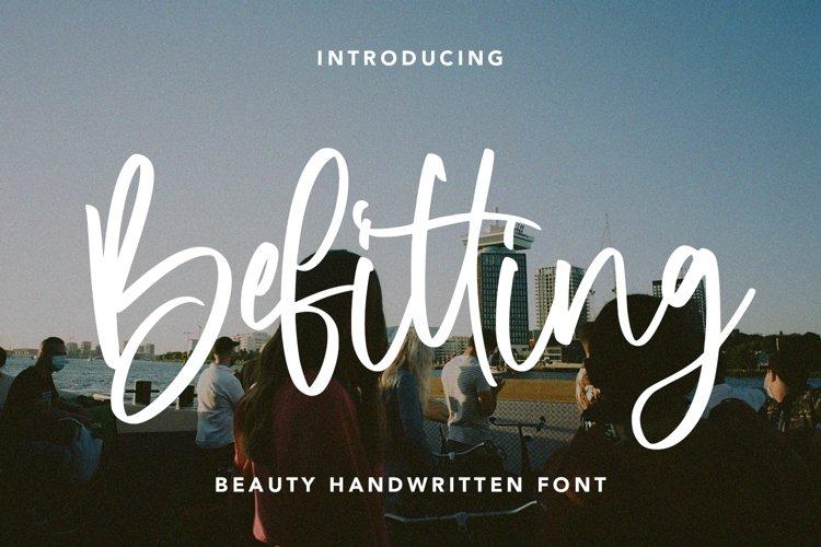 Befitting - Beauty Handwritten Font example image 1