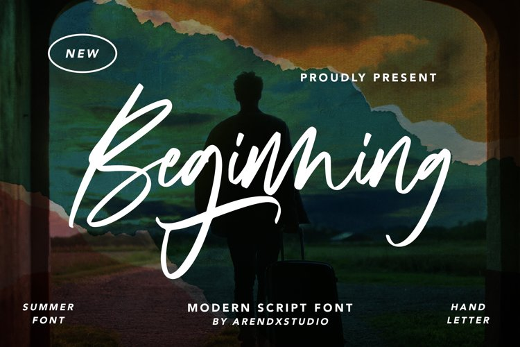 Beginning - Modern Script Font example image 1
