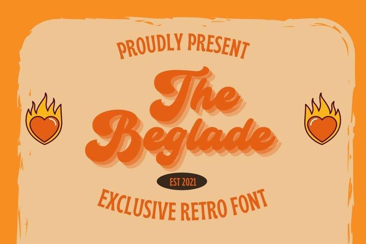 Web Font Beglade Font example image 1