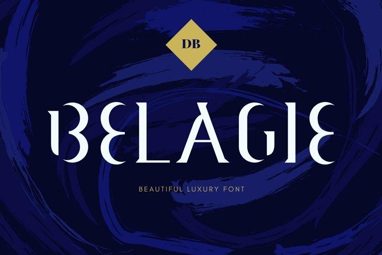 Web Font Belagie Font example image 1
