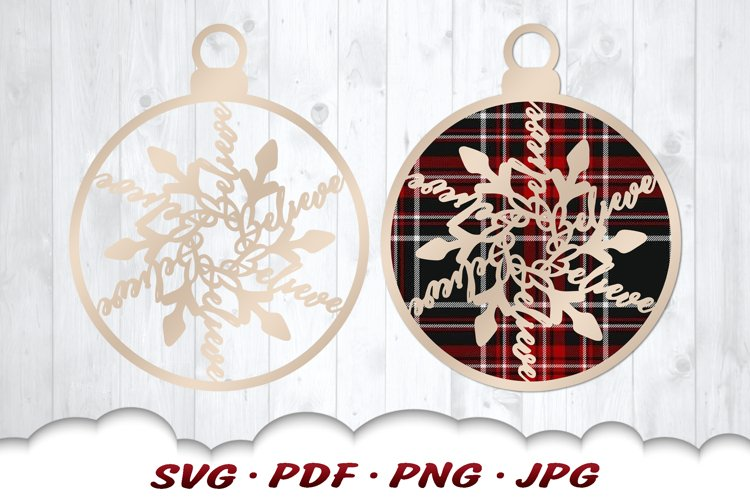 Snowflake Christmas Ornament SVG Files For Cricut example image 1