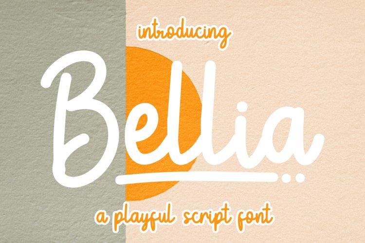Bellia - Playful Script Font example image 1