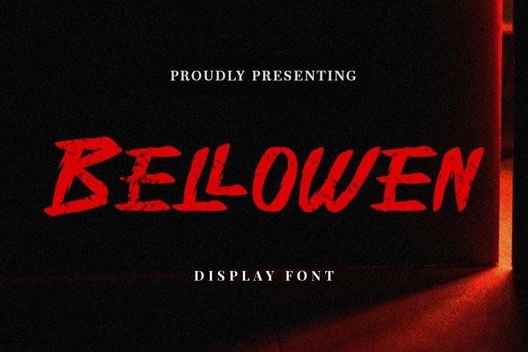 Web Font Bellowen - Halloween Font example image 1