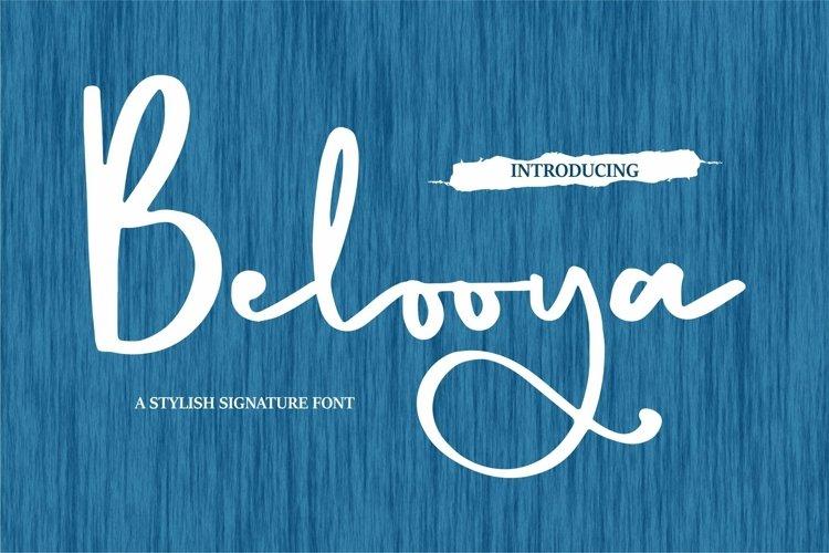 Web Font Belooya - A Stylish Signature Font example image 1
