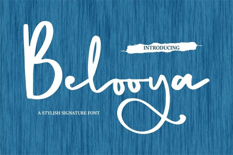 Belooya - A Stylish Signature Font example image 1