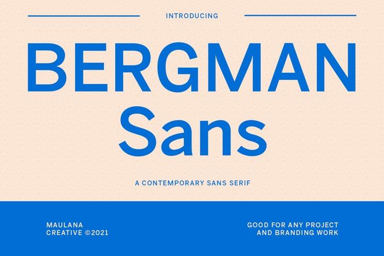 Bergman Sans Font example image 1