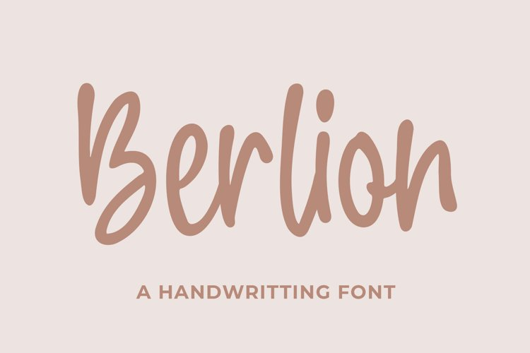 Berlion a Handwritting Font example image 1