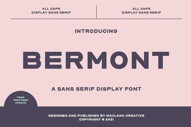 Bermont Sans Serif Display Font example image 1