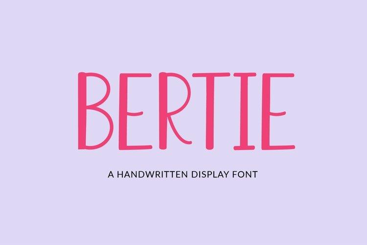 Web Font Bertie - a quirky handwritten font example image 1