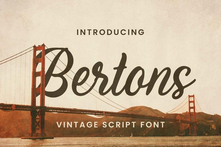 Web Font Bertons Font example image 1