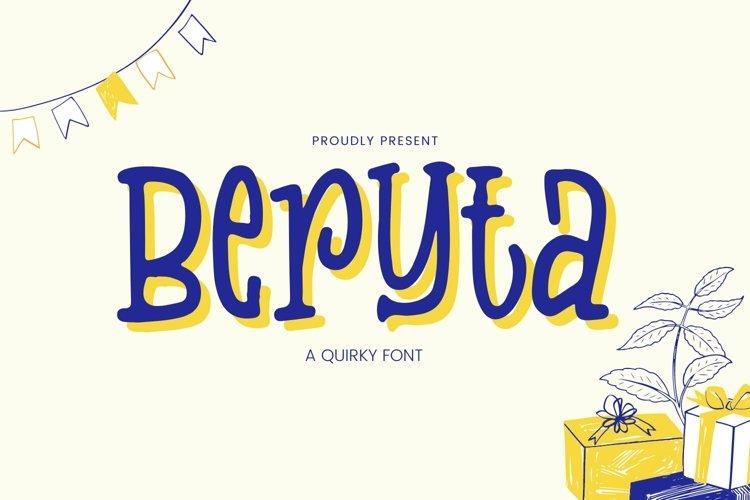 Web Font Beryta Font example image 1