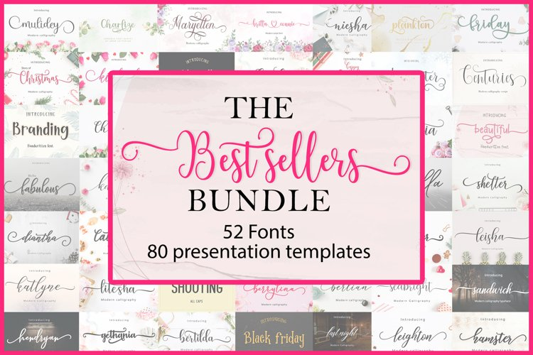 The Best Sellers Bundle   52 Fonts Only $5
