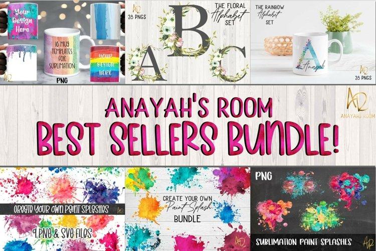 Sublimation Best Sellers Bundle   Paint Splash Mug Template