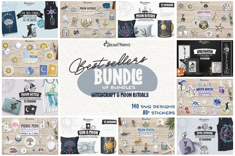 Best Sellers Witch Bundle SVG | Halloween Stickers Bundle example image 1