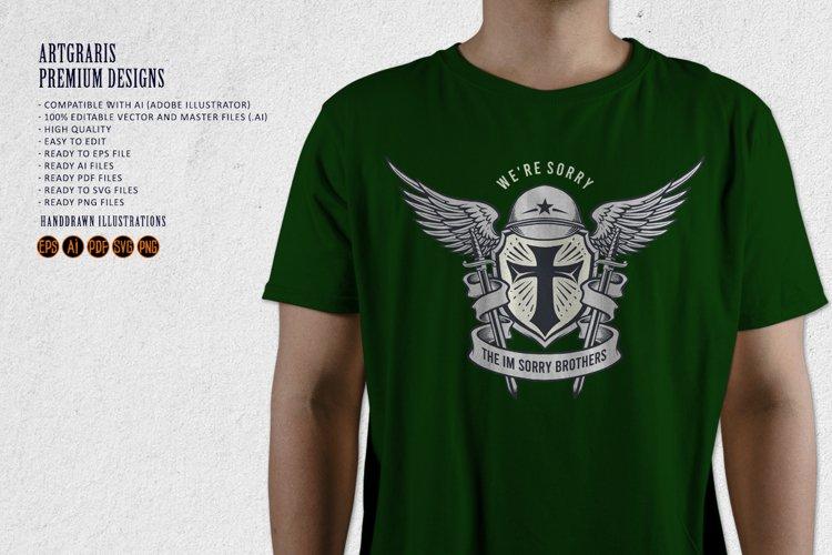 Military dead Hero Mascot Classic Emblem
