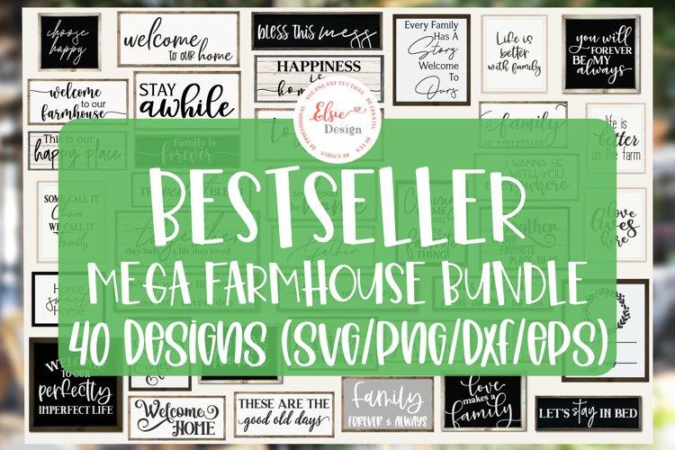 Bestseller Mega Farmhouse Bundle SVG Cut Files