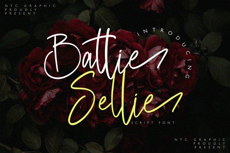 Battie Sellie - Script Font example image 1