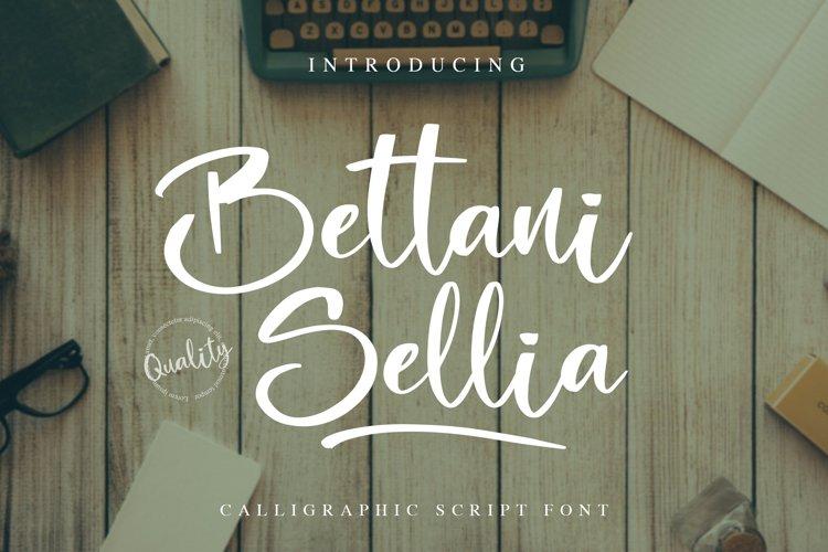 Bettani Sellia - Calligraphic Script Font example image 1