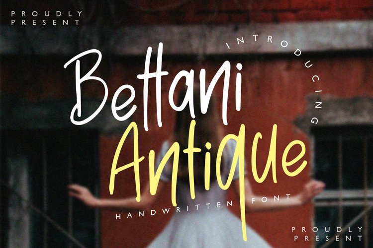 Bettani Antique - Handwritten Font example image 1